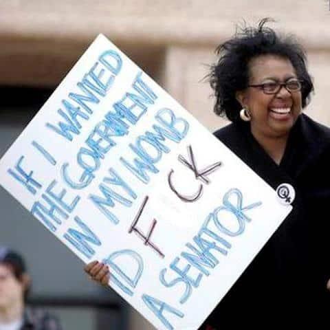 Repro protestor